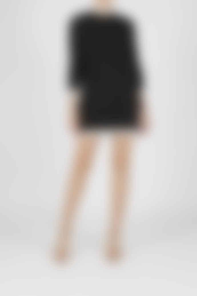 Jovonna London Black Grenelle Knitted Midi Dress