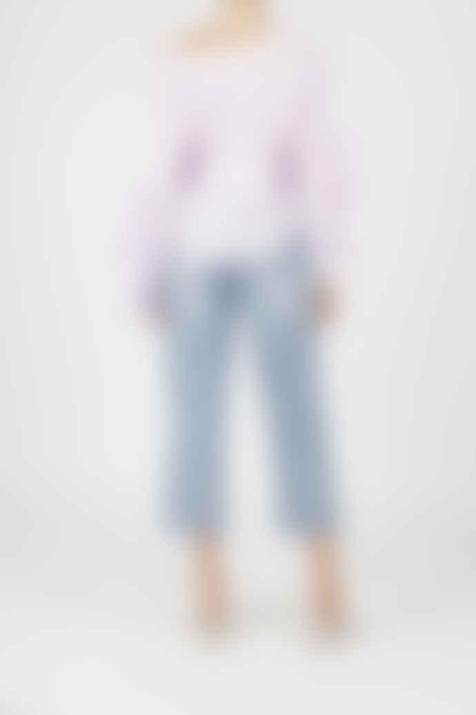 Jovonna London Lavender Karine Cotton Lace Ruffled Top