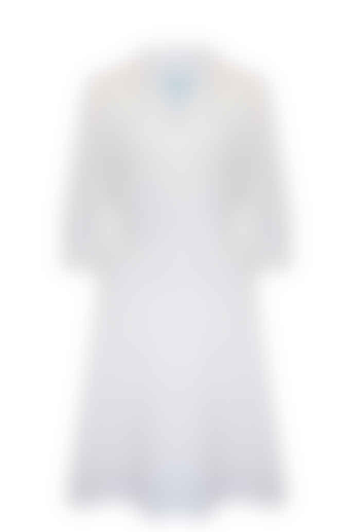 Jovonna London White Malou Draped Midi Dress