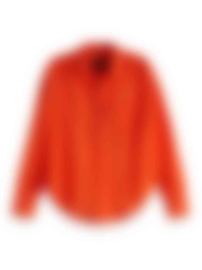 Scotch & Soda Orange Lightweight Cotton Shirt