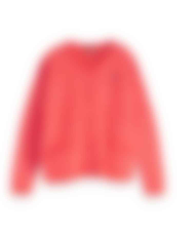 Scotch & Soda Postal Red Fluffy Knit Cardigan