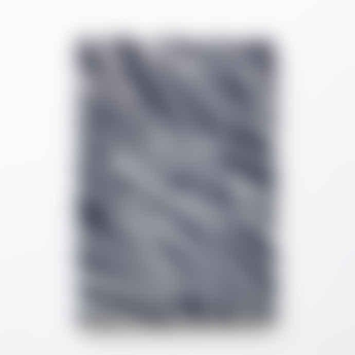 Ola Medium Navy Lines Pattern Notebook