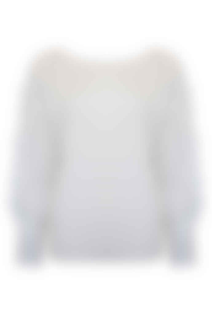 Jovonna London White Testra Lace Knitted Top