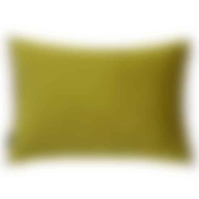 Persora Bamboo Green And Natural Cream Pom Pom Cushion