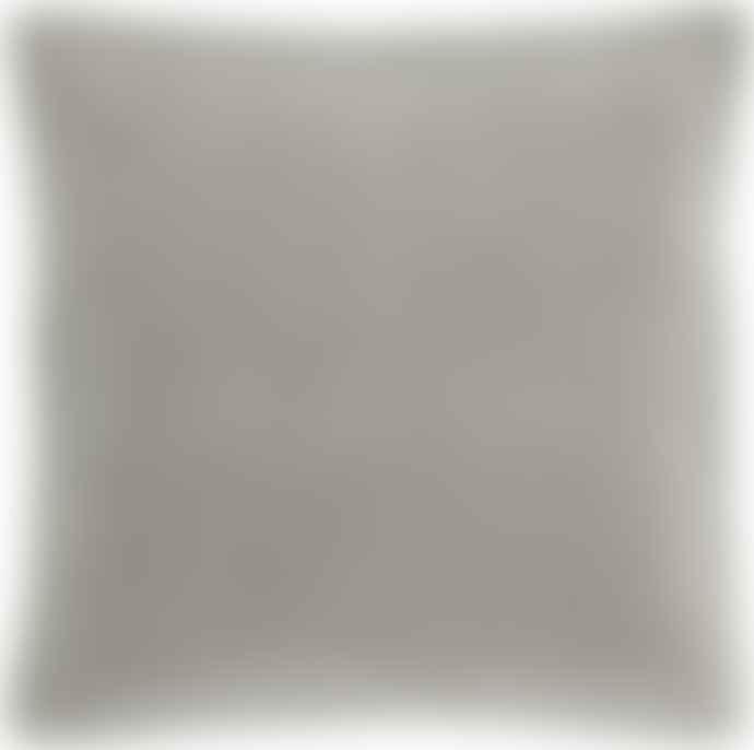 Ib Laursen 50 X 50 Cm Light Grey Velvet Cushion Cover