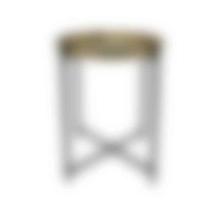 HK Living Brass/black side table
