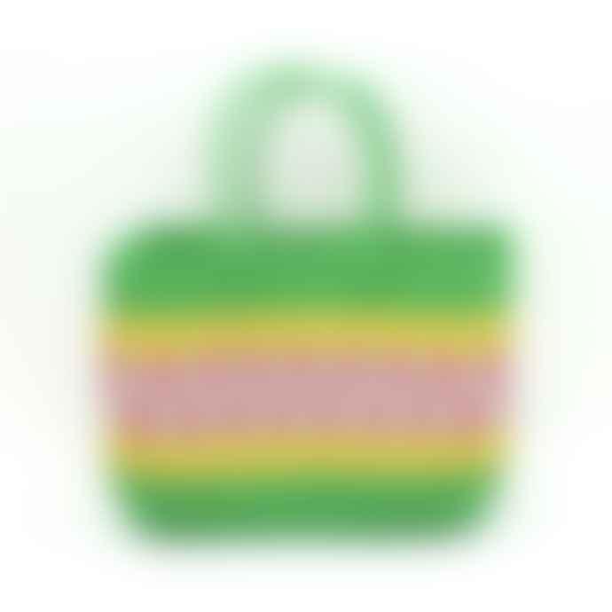 ECP Design Patchwork Green Straight Shopping Basket