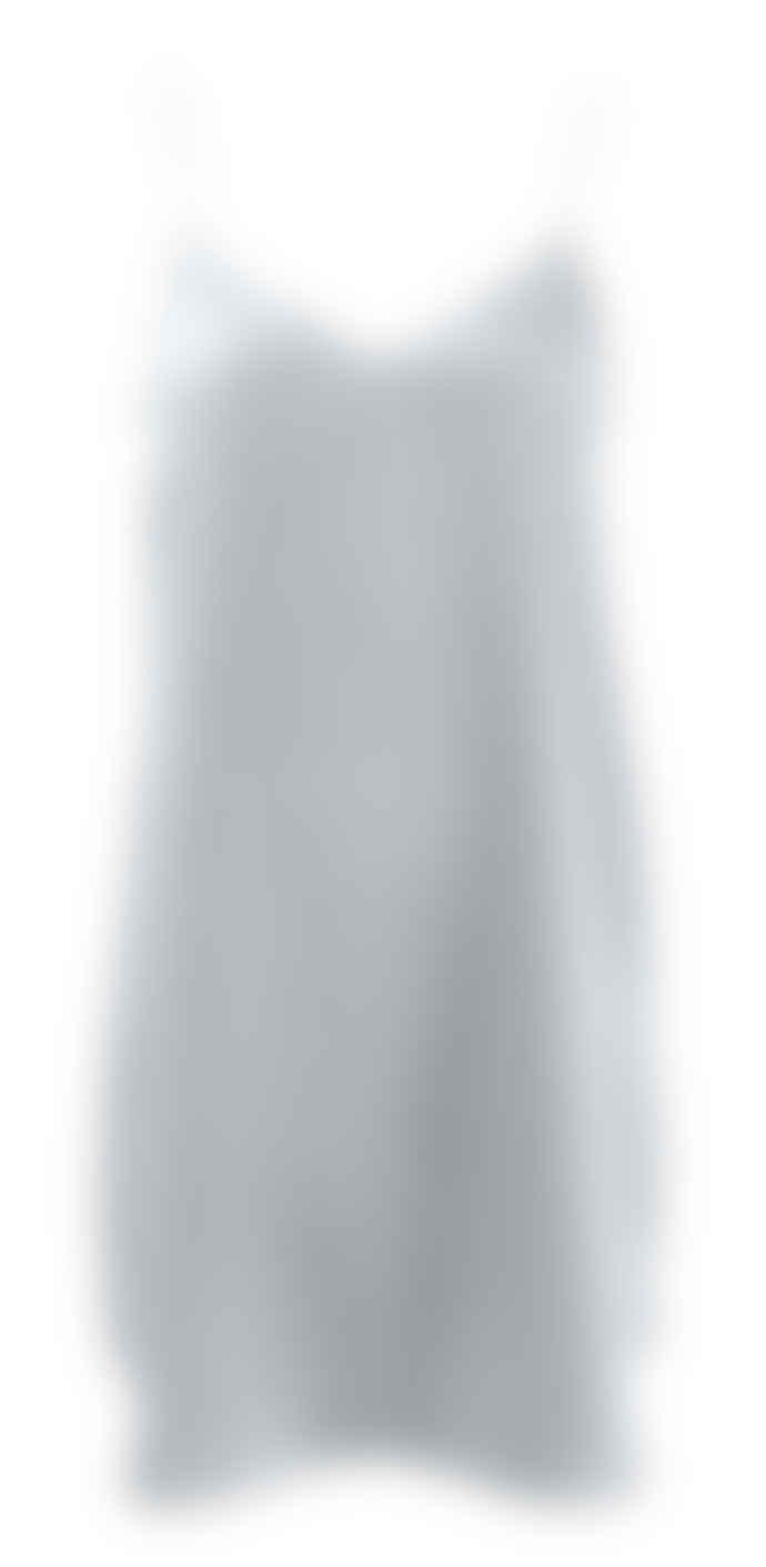 Wallace Cotton Silver Silk Strappy Nighty