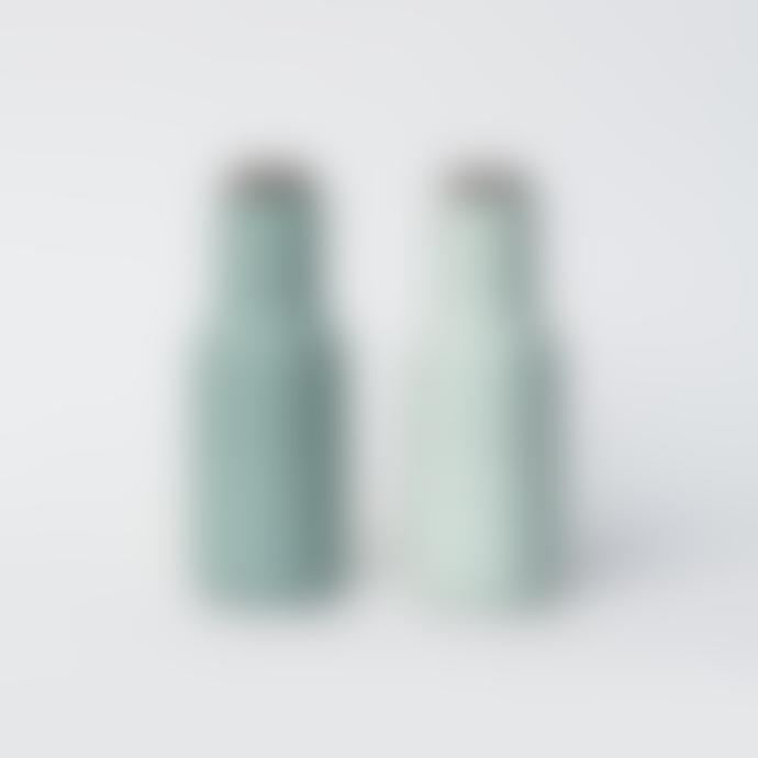 Menu Moss Green Bottle Grinder Set of 2 - Walnut Wood Lids