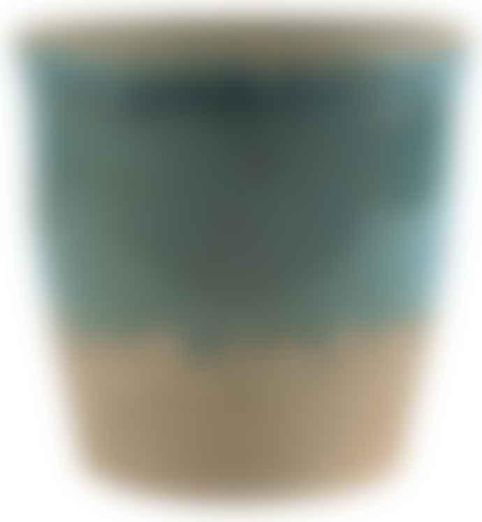 Ib Laursen Small Ocean Blue Crackled Pot