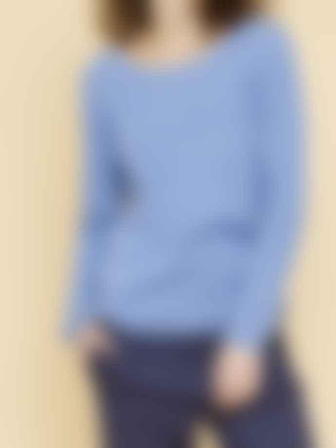 Mos Mosh Ultramarine Sophia Cashmere O Neck Knit