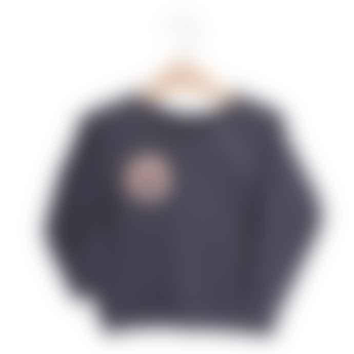 Lotiekids / Lötiekids Vintage Black With Smooth Patch Sweatshirt