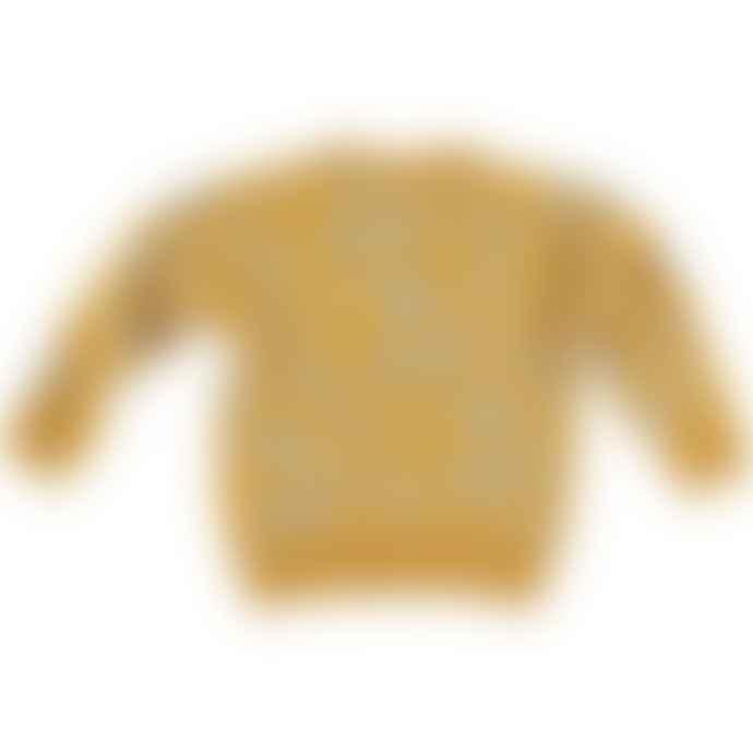 Picnik With Grey Speckles Mustard Cardigan
