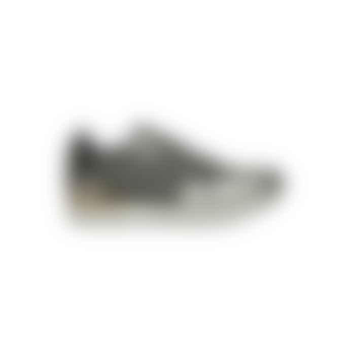 Woden Metallic Gunmetal Leather Freya Sneakers
