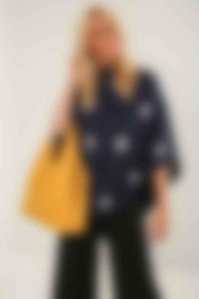 Kris-Ana Mustard Tote Faux Leather Handbag