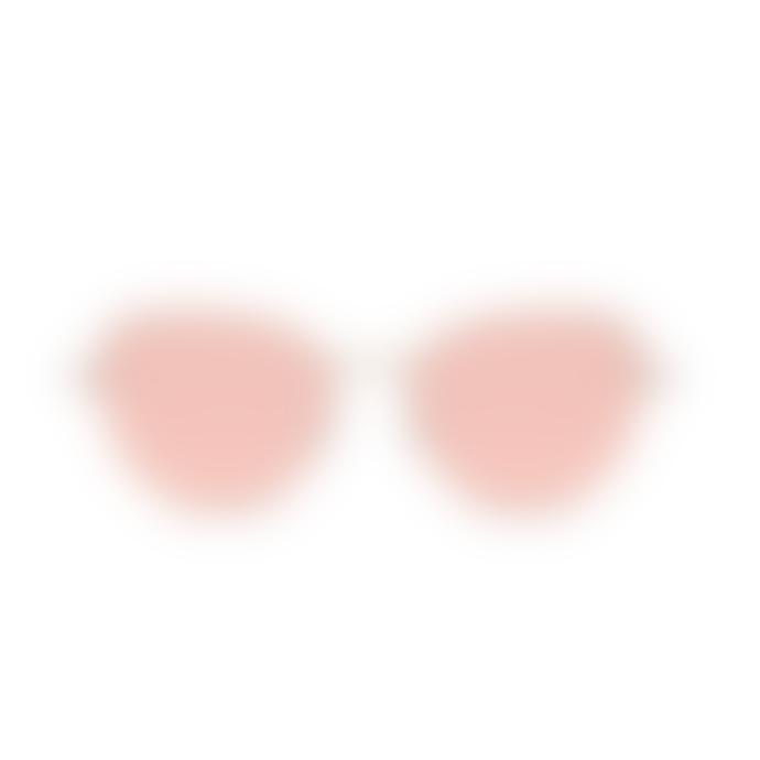 Komono Rose Gold Stainless Chloe Sunglasses