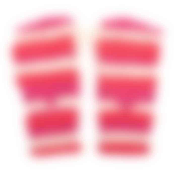 Hyde And Seek Orange & Pink Woolly Gloves