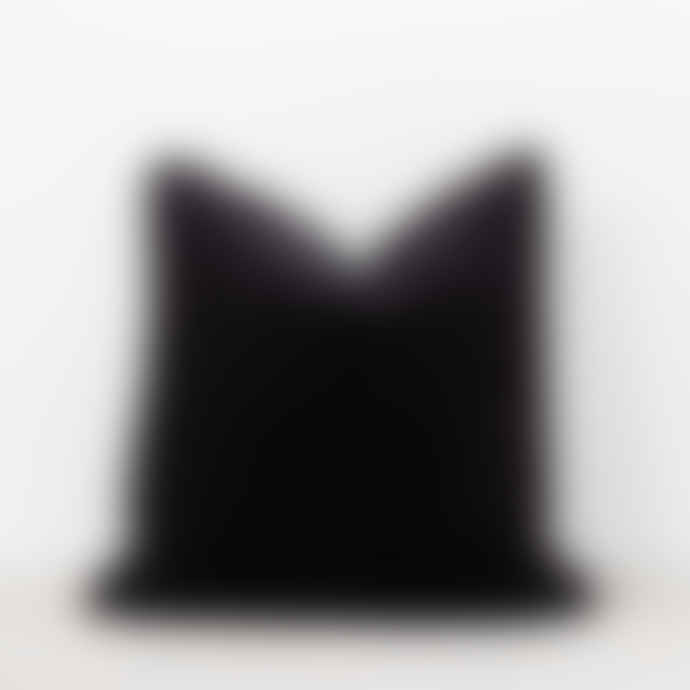 Also Home Unari Black Velvet Cushion