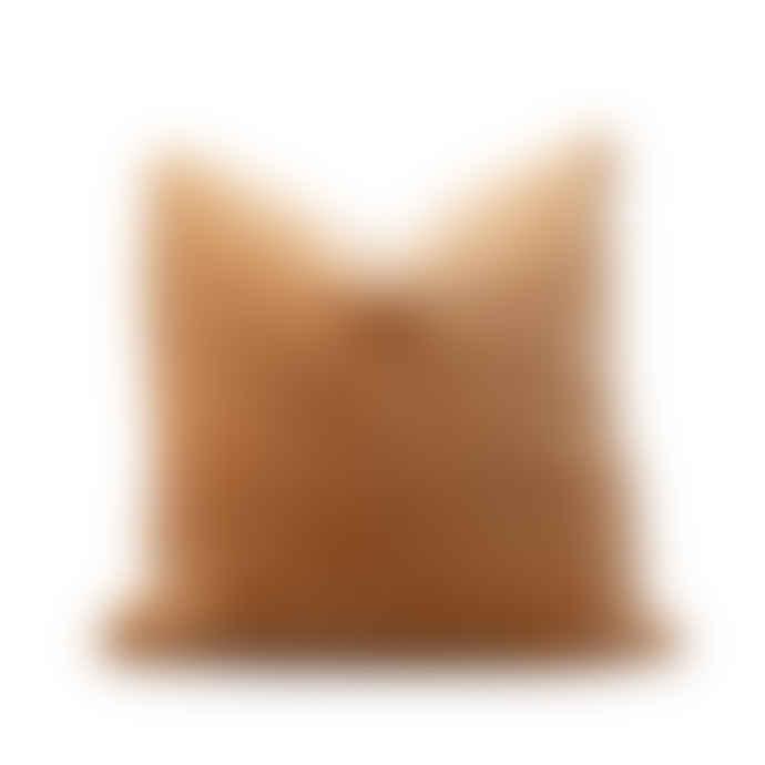 Also Home Unari Camel Velvet Cushion