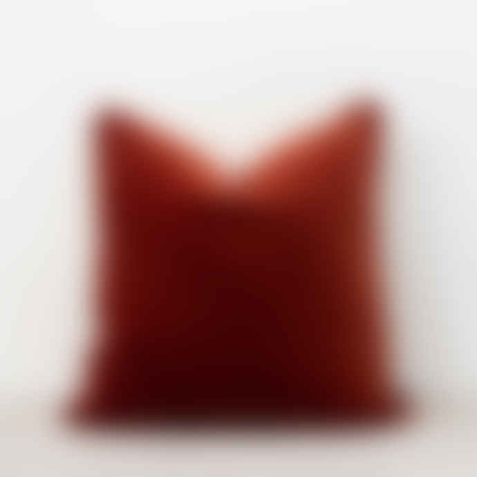 Also Home Unari Rust Velvet Cushion