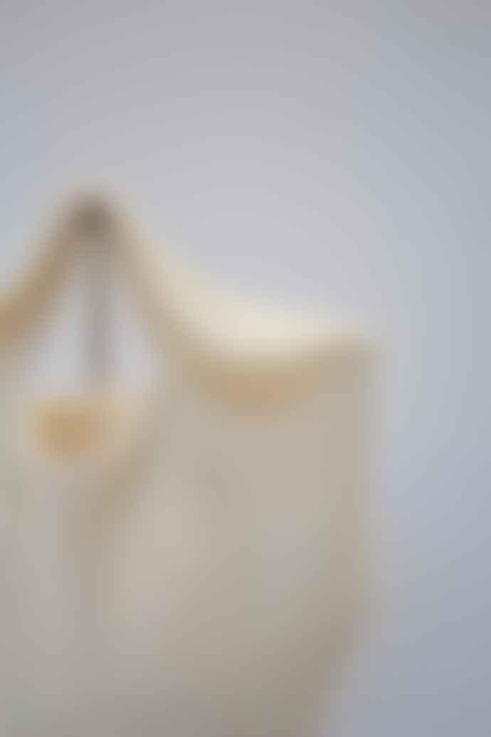 Collection & Co Krema Cream Mini Crochet Knit Bag