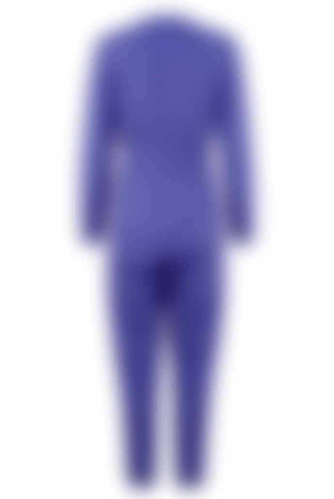 Closet Purple Long Sleeve Crossover Jumpsuit