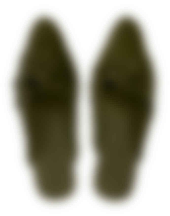 Wallace Cotton Olive Velvet Velluto Slipper
