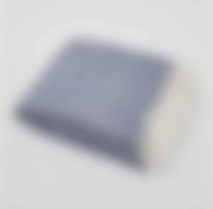 Weaver Green Navy Diamond Blanket Throw
