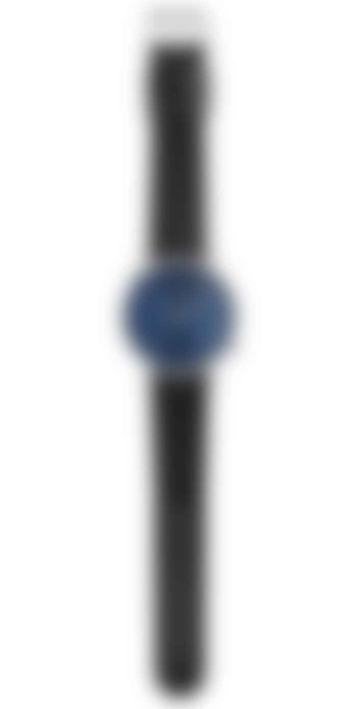 Komono Blue Leather Lewis Watch