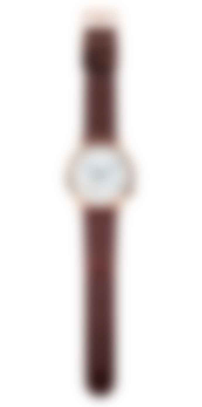 Komono Auburn Leather Winston Subs Watch