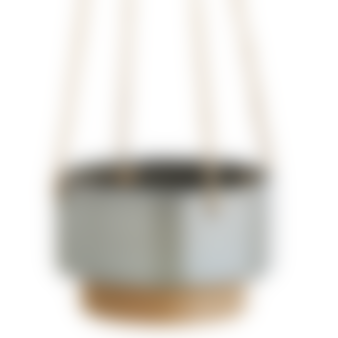 Madam Stoltz Two Tone Hanging Flower Pot