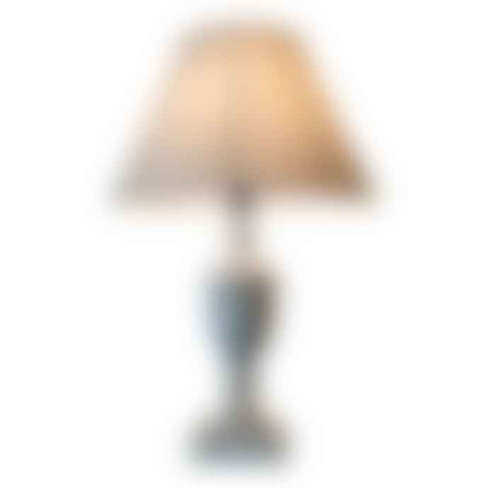 The Grey Works Pale Grey Lottie Distressed Lamp And Shade
