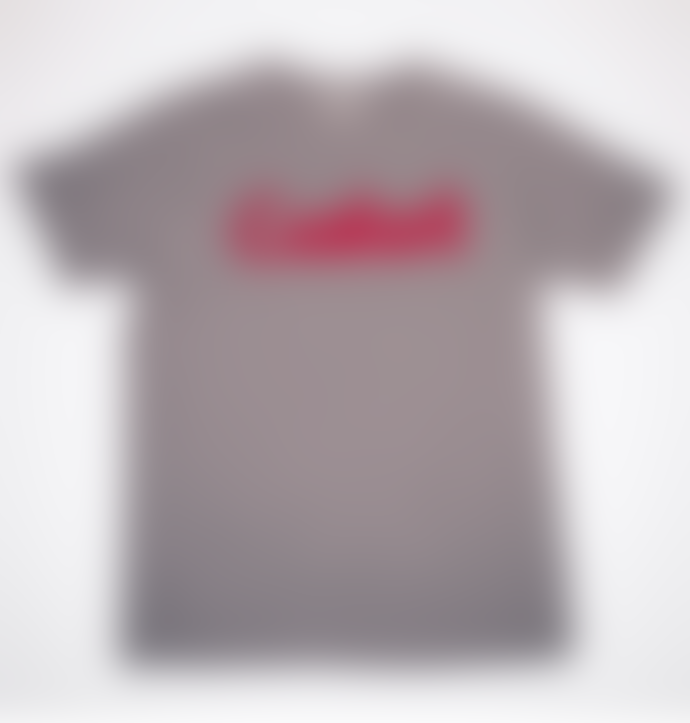 Castart Castart Mens Grey Terry Cotton Logo Tee