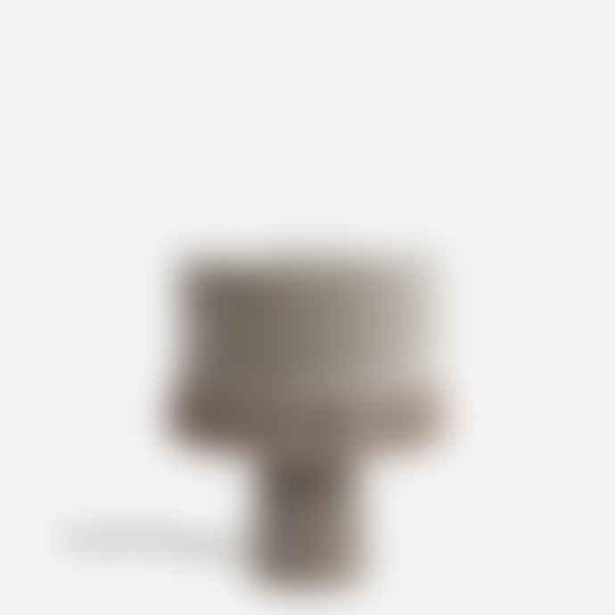 Madam Stoltz Grey Velvet Fringed Table Lamp