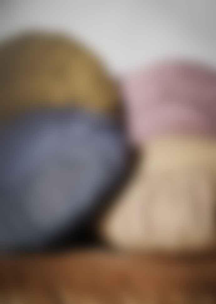Madam Stoltz Stonewashed Round Linen Cushion