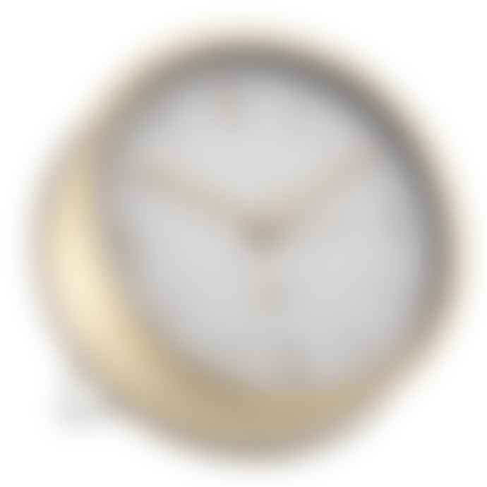 Bloomingville Gold & White Table Clock