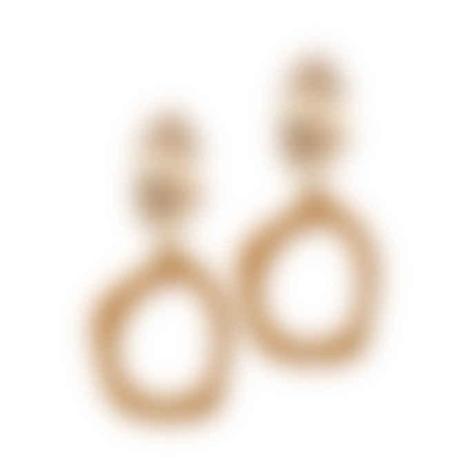 A Weathered Penny  Sand Alexa Earrings