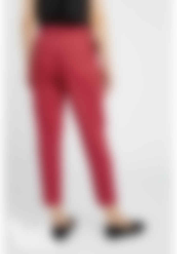 People Tree Red V&A Esther Print Trousers