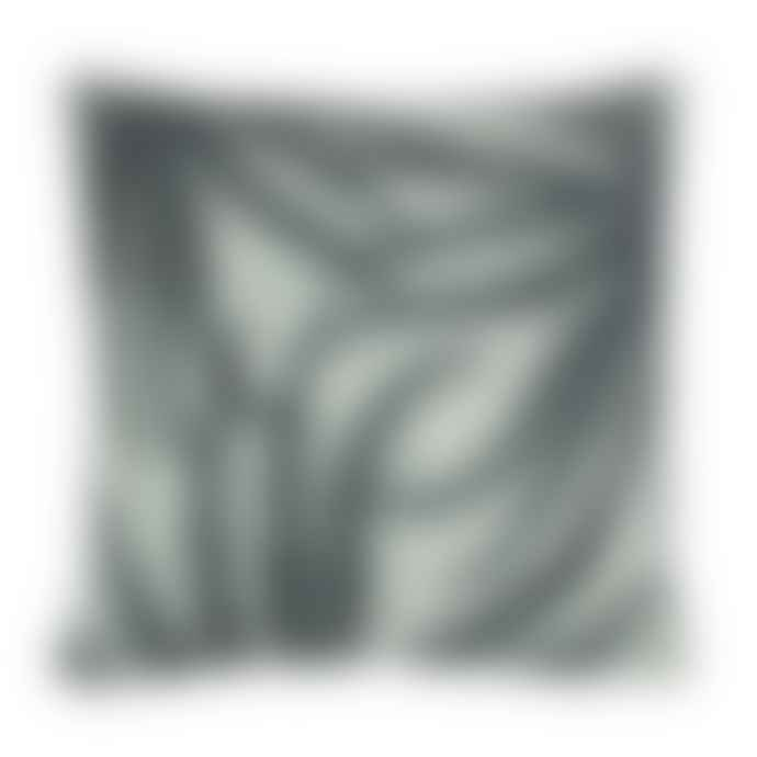 HKliving 4 5 x 4 5 Black Fern Printed Cushion