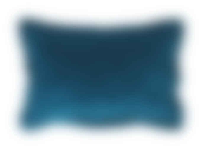 Wallace Cotton Blue Plush Velvet Oxford Pillowcase