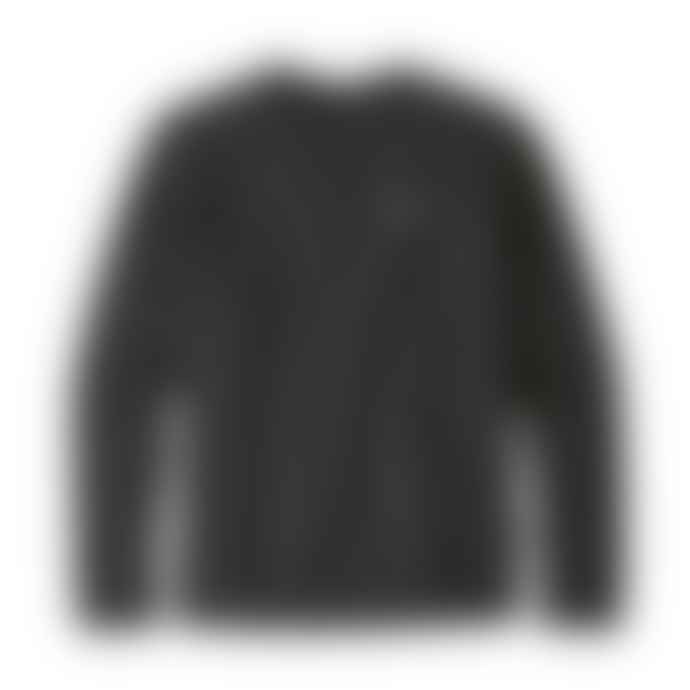 Patagonia P 6 Label Uprisal Black Crew Sweatshirt