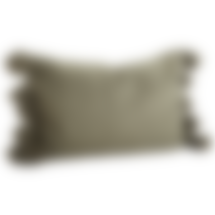 Madam Stoltz Olive Cushion with Tassels
