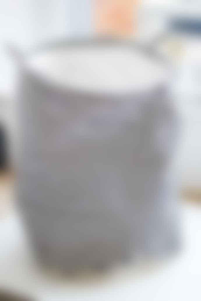House Doctor Black & White L Striped Laundry Bag