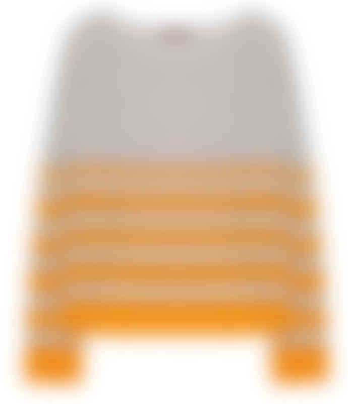 10per3 Stripes Mix Grey Orange Cashmere Sweater