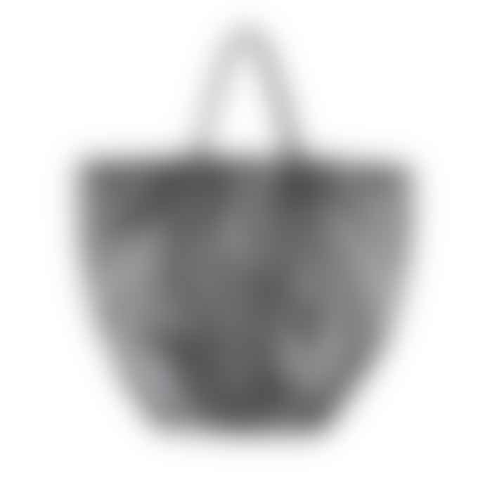 Urban Travel Black Nappa Leather Tuck Tote Bag