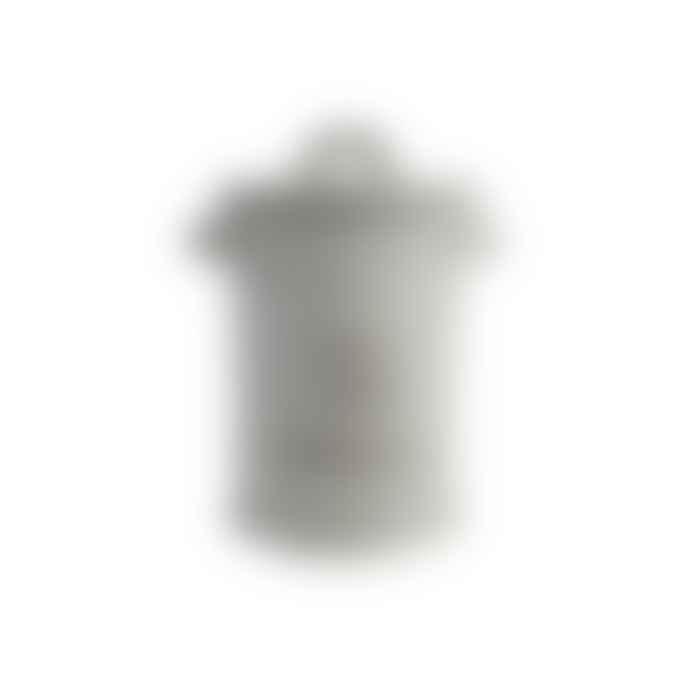 T&G Grey Stoneware Tea Canister Storage Pot