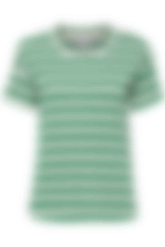 ICHI Grass Stripe Green T Shirt