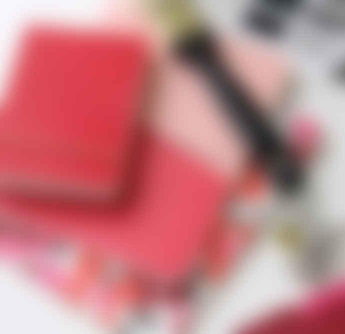 Caroline Gardner Red Embossed Dotty Jotter Notebook