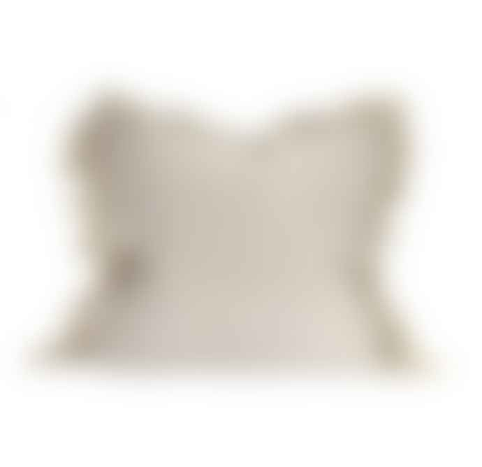 Raine And Humble Cream Tassel Edge Cushion