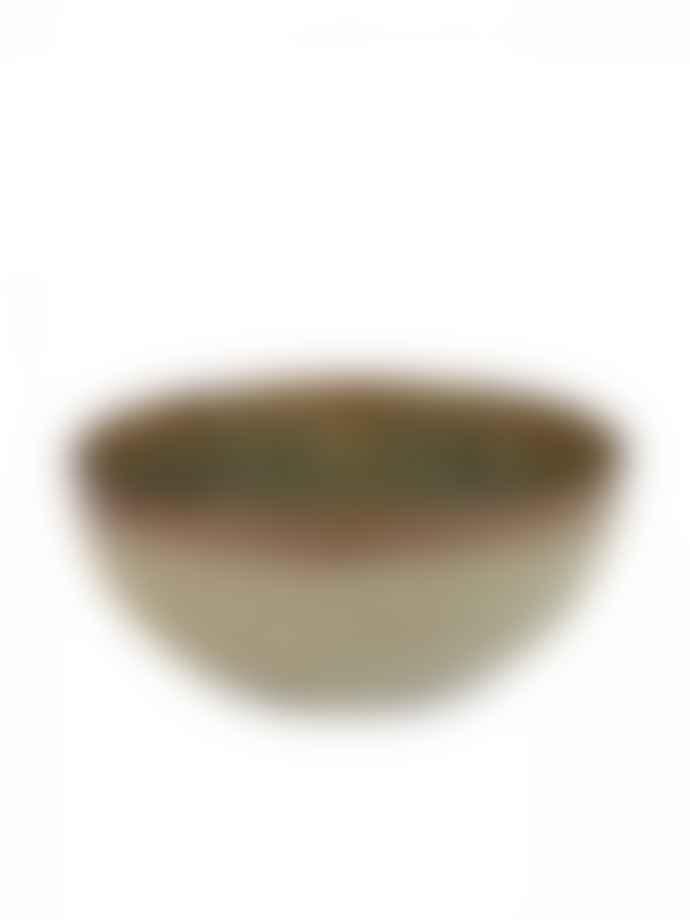 Kagu Interiors Stoneware Indi Surface Grey Bowl - medium